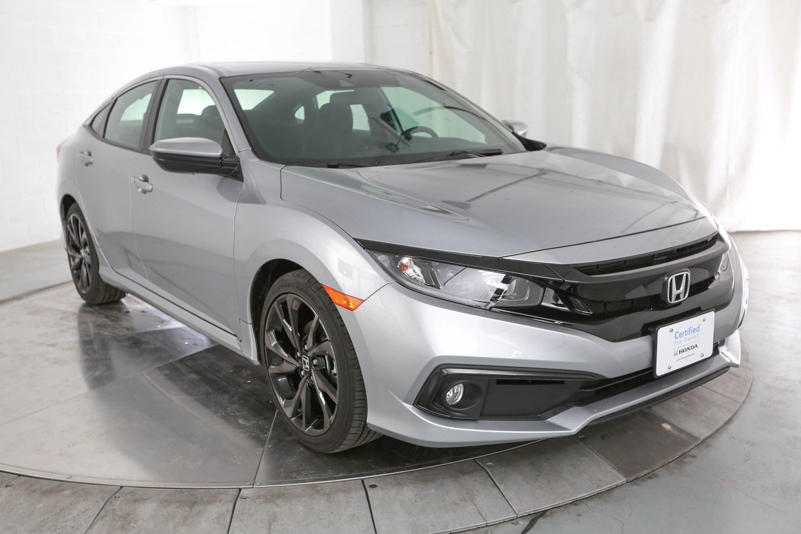 Honda Civic Certified Pre Owned >> Certified Pre Owned 2019 Honda Civic Sport Fwd 4d Sedan